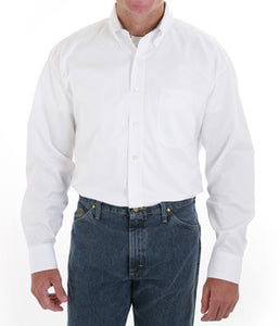 Wrangler George Strait White Long Sleeve Twill Solid - MGS242W