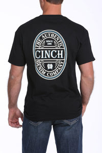 Men's Cinch Black Authentic Seal Logo T-Shirt