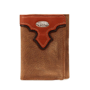 Nocona Distressed Tri Fold Wallet