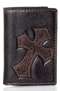 Nocona Tri-Fold Mens Cross Wallet