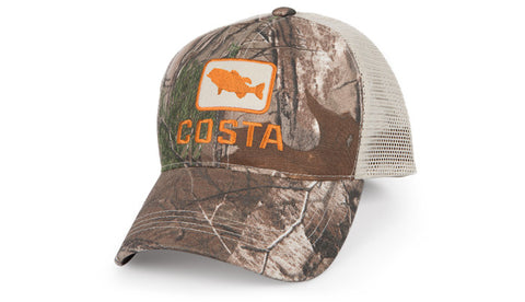 Costa Bass Trucker - Camo/Orange