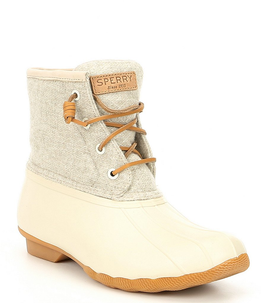 Women's Saltwater Wool Embossed Duck Boot