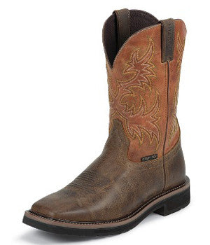 Justin Boots Rugged Tan Comp Toe - WK4812