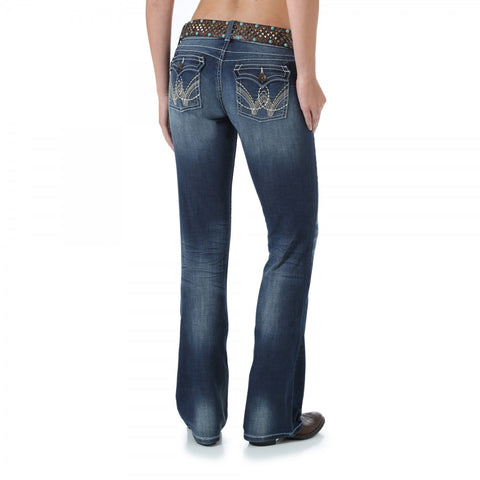 Wrangler Premium Patch With Booty Up Technology Ultra Low Rise Jean - 08MWZDM