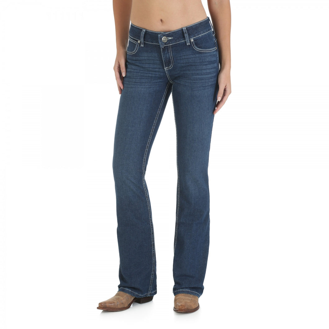 Wrangler Premium Patch Jean With Booty Up Technology  Windjammer - 10MWZWJ