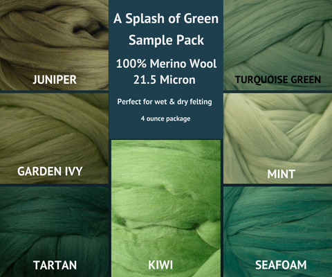 Merino Wool Roving Sample Packs