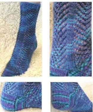 Knitting Patterns - Arrowhead Lace Sock
