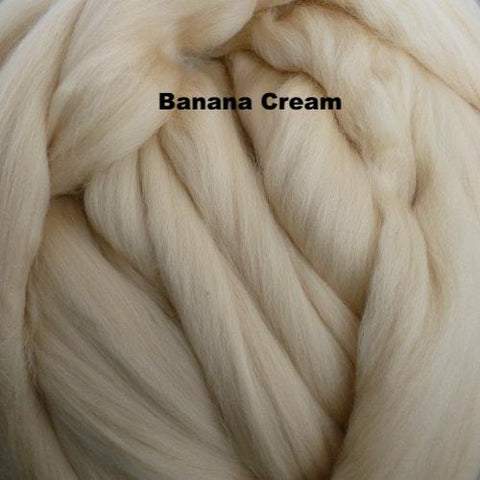 Merino Wool Roving Banana Cream