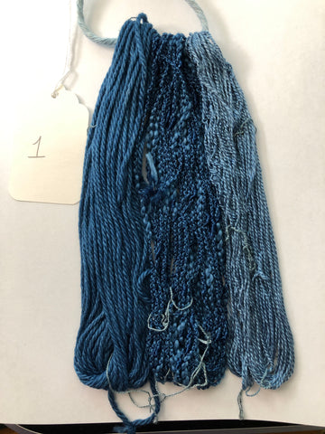 Indigo Blues - mini skeins for embellishment
