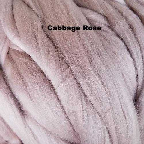 Merino Wool Roving Cabbage Rose