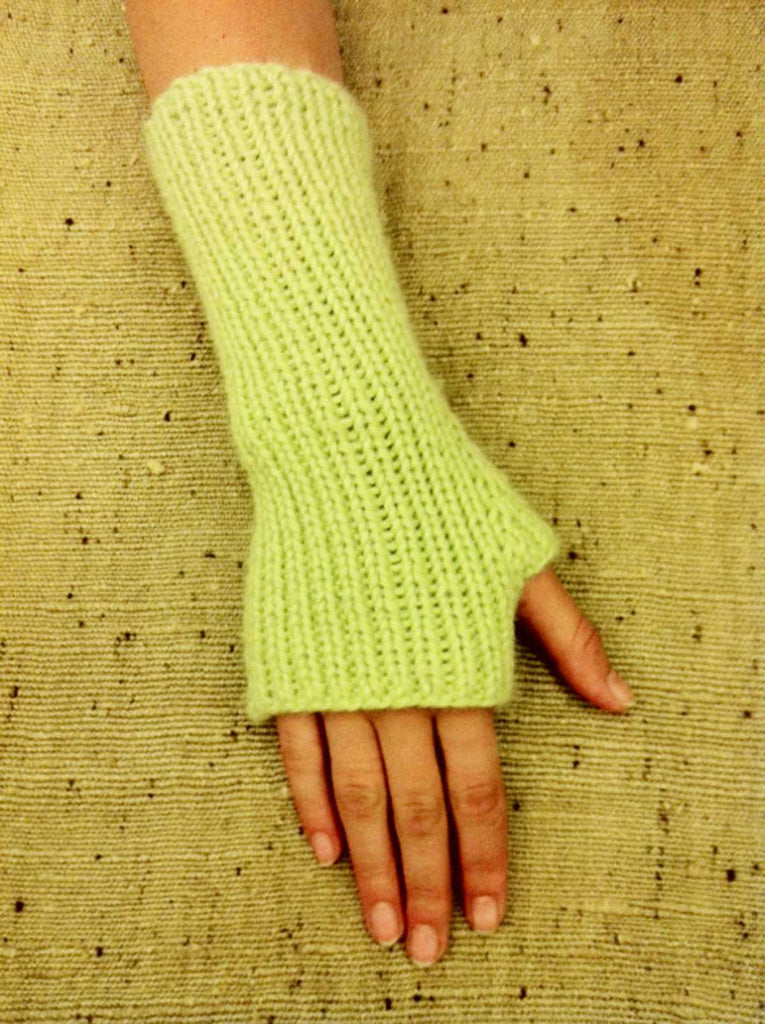 Knitting Patterns - Frog Tree Chunky Alpaca Fingerless Mitten | The Yarn Tree - fiber, yarn and natural dyes