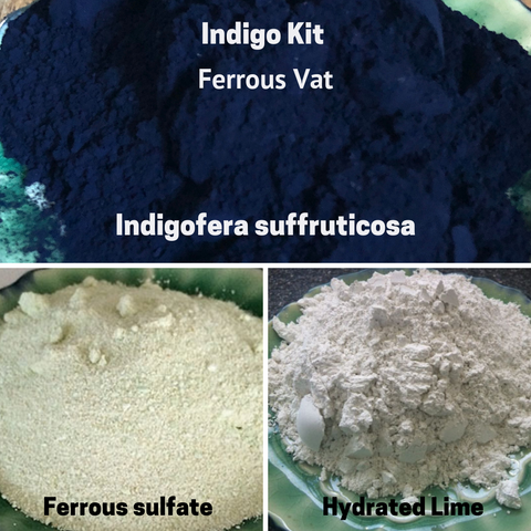 Natural Dyes - Indigo Kit  Ferrous Vat Indigofera Suffruticosa