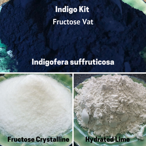 Natural Dyes - Indigo Kit Fructose Vat Indigofera Suffruticosa