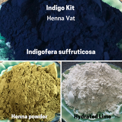 Natural Dyes - Indigo Kit Henna Vat Indigofera Suffruticosa