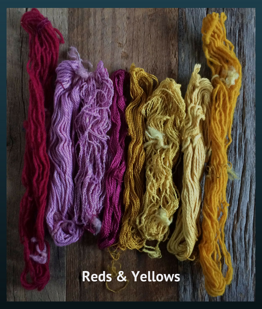Mini skeins reds and yellows