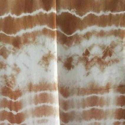 Aranya Natural Silk Scarf - Shibori dyed with Indian Madder and Pomegranate | The Yarn Tree - fiber, yarn and natural dyes