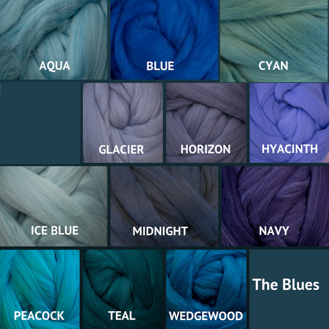 Ashland Bay Solid-colored Merino Wool - The Blues
