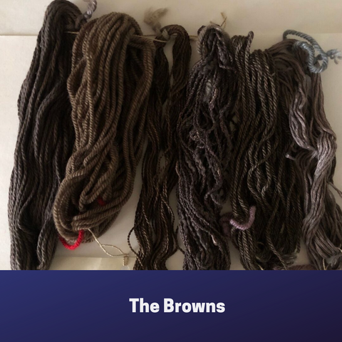 Mini skeins the browns