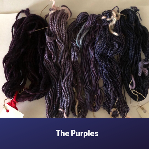 Mini skeins the purples