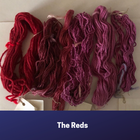 Mini skeins the reds