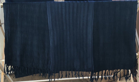 Indigo Blues - Indigo Dyed Handwoven Cotton Scarves