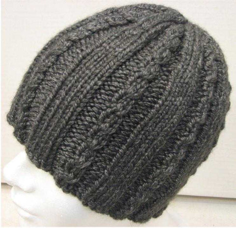 Knitting Patterns - Cap with Mini-cables