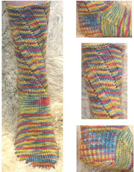 Knitting Patterns - Tutti Frutti Sock | The Yarn Tree - fiber, yarn and natural dyes