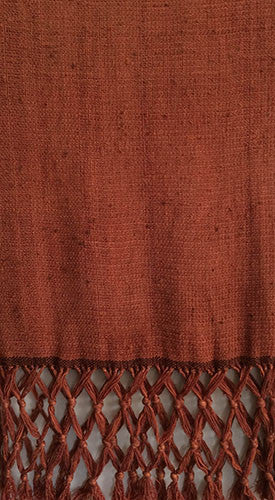 Handmade by Linda Scarf - Melange of Silk Yarns dyed with Madder Red Plus #2
