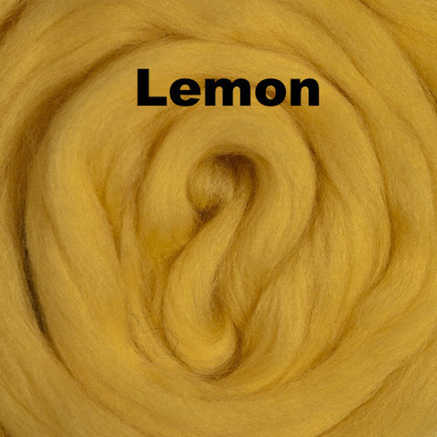 Merino Wool Roving Lemon