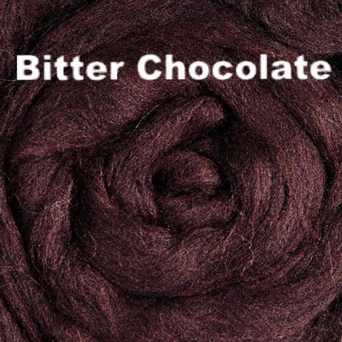 Merino Wool Roving Bitter Chocolate