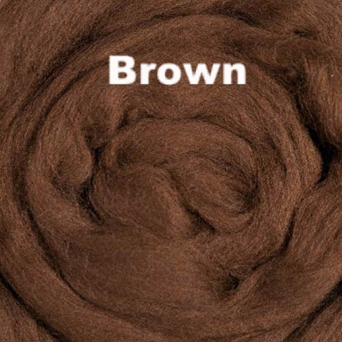 Merino Wool Roving Brown