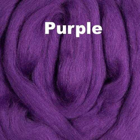 Merino Wool Roving Purple