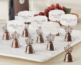 """Lustrous Leaf"" Kissing Bell Place Card/Photo Holder (Set of 24)"