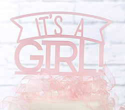 It's a Girl Acrylic Cake Topper