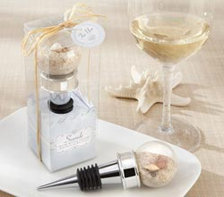 """Seaside"" Sand and Shell-Filled Globe Bottle Stopper"