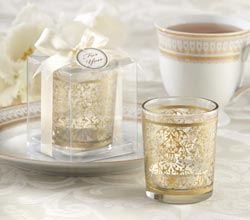 """Golden Renaissance"" Glass Tealight Holder (Set of 4)"