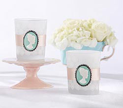 Vintage Cameo Frosted Glass Tea Light Holder (Set of 4)