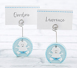 Baby Boy Blue Place Card Holder (Set of 6)