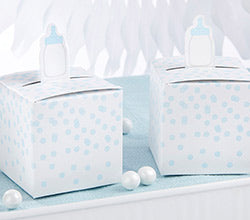 Classic Blue Baby Bottle Favor Box (Set of 24)