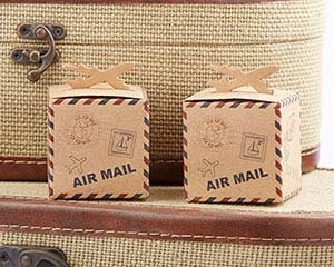 Let the Adventure Begin Airplane Kraft Favor Box (Set of 24)