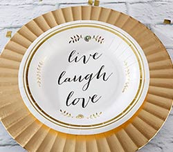 Live, Laugh, Love Paper Plates (Set of 8)