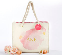 Watercolor Tote Bag With Rope Handles