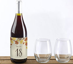 Fall Leaves Label Table Numbers (1-20)