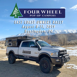 MAOF 2019 Sponsor and East Coast Owner's Rally: Four Wheel Pop-Up Campers