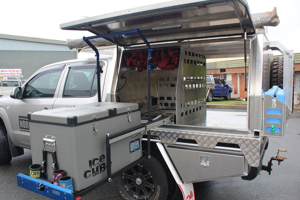 Norweld Aluminum Ute Canopy - Drop Down Fridge Slider
