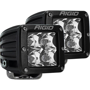 Rigid Industries D-Series Pro Flood Flush Mount Black - 2 Lights