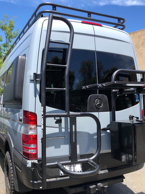 Owl Van Engineering 2006-2018 Sprinter Ladder + Tire Carrier - Aluminum