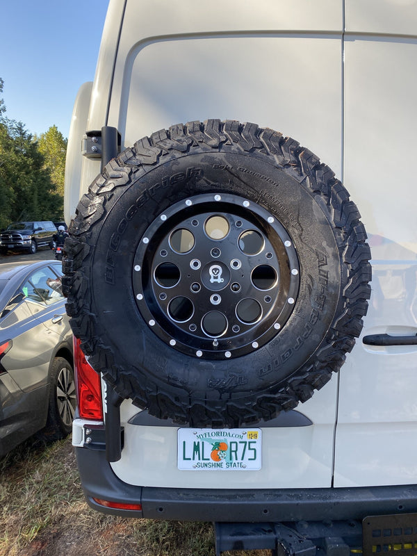 Owl Van Engineering New Sprinter Tire Carrier for 2019-2020 (including 2020 Revel) *Free Shipping