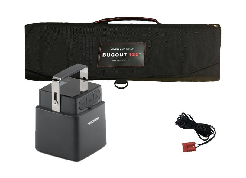 Dometic PLB40 Portable Lithium Battery & Overland Solar 120 Watt Portable  Solar Panel Combo Package