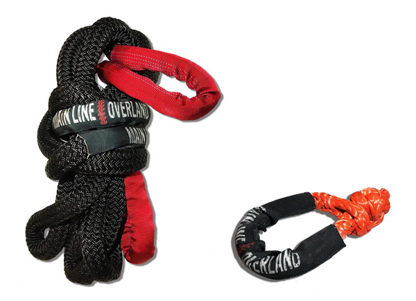 MLO Kinetic Recovery Rope & Soft Shackle Bundle